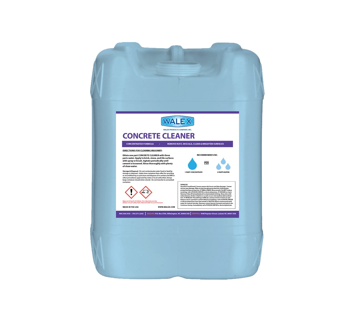 Concrete cleaner walex products company inc for Cement cleaning products