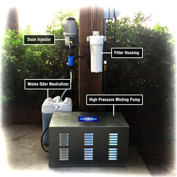 Odor Neutralizing Misting System High Pressure Outdoor